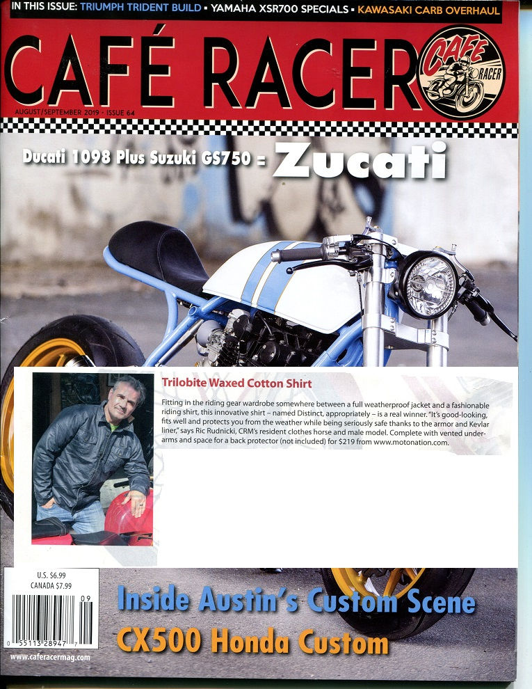 Cafe Racer Aug Sept 2019 Trilobite Distinct