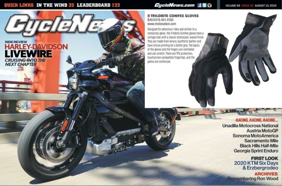 Trilobite Comfee gloves in CycleNews