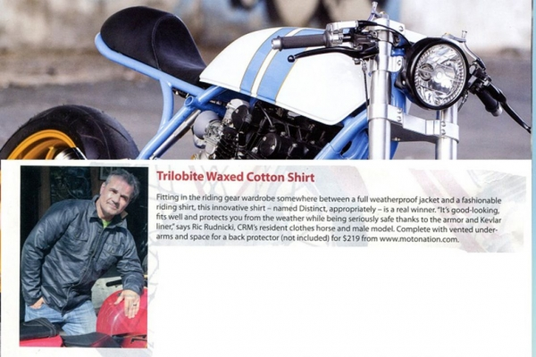 Trilobite Waxed Cotton shirt in CAFE RACER